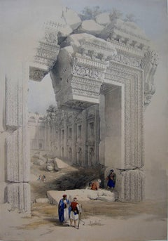 The Doorway, Baalbec - Many Roberts Lithographs Available - Subs & 1st Editions