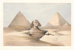 The Great Sphinx. Pyramids at Gizeh.