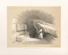Upper Fountain of Siloam. Jerusalem.Tinted lithograph after David Roberts, 1855.