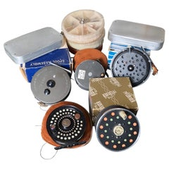 "David Rockefeller Family Fly Fishing ""Reel and Fly"" Collection & Seamen's Chest"