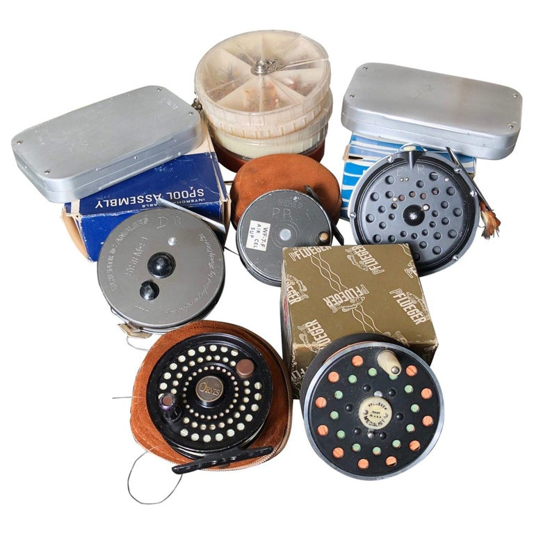 "David Rockefeller Family Fly Fishing ""Reel and Fly"" Collection & Seamen's Chest For Sale"
