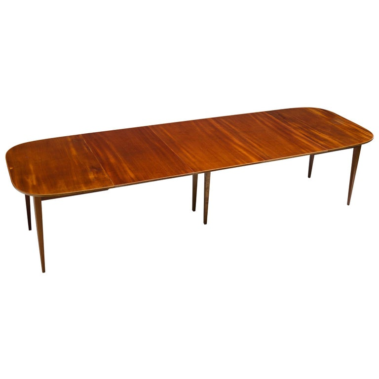 David Rosén Extremely Large Extendable Dining Table For Sale
