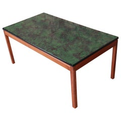 David Rosén for Nordiska Swedish Modern Teak and Enamel Coffee Table, 1968