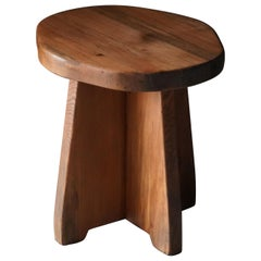 David Rosén, Rare Modernist Stool or Side Table, Pine, Nordiska Kompaniet, 1930s