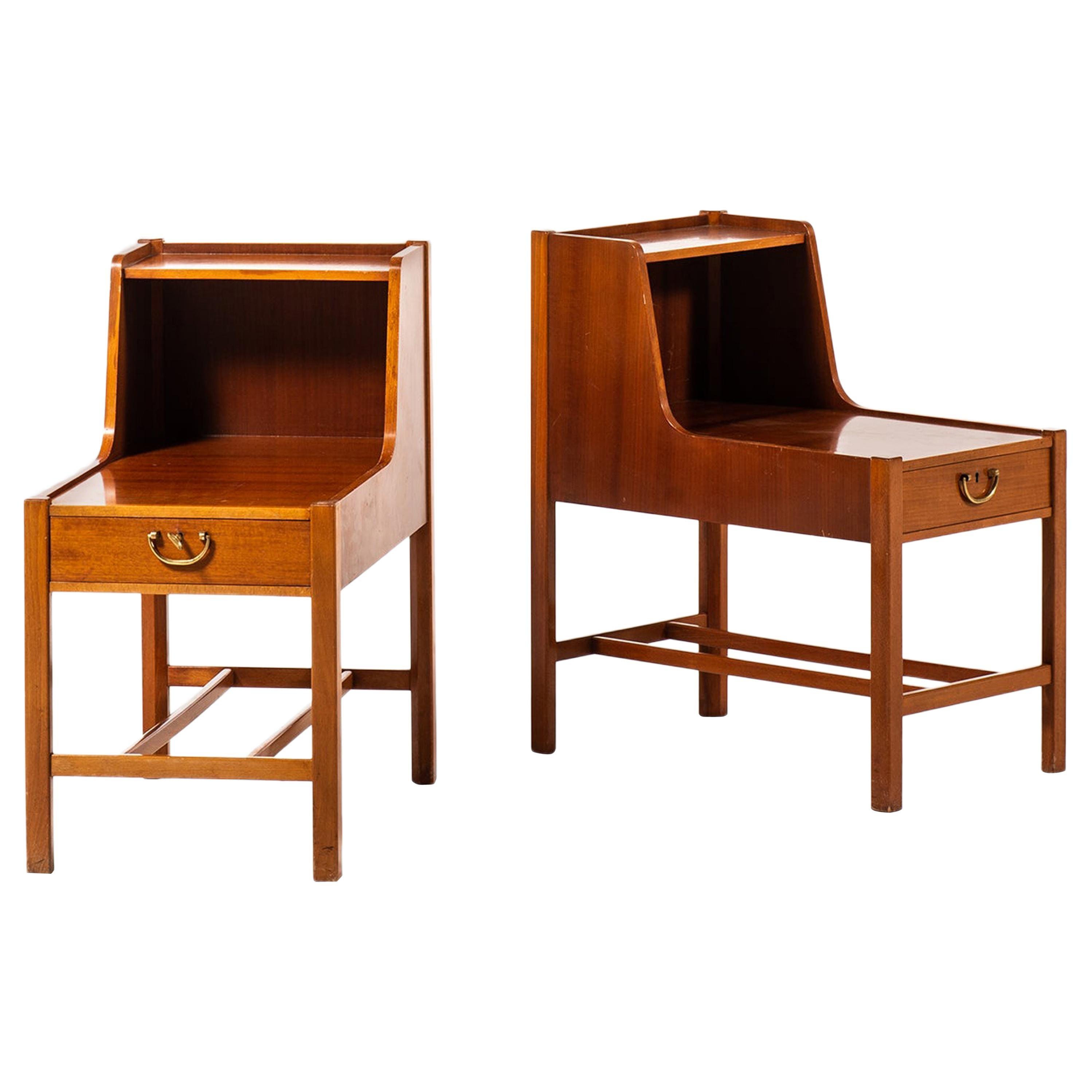 David Rosén Side / Bedside Tables by Nordiska Kompaniet in Sweden