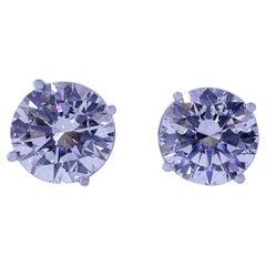 David Rosenberg 10.06 Total Carats Round H/VS1-VS2 Ex Ex Ex GIA Diamond Studs