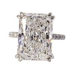 David Rosenberg 10.19 Carat Radiant D/SI2 GIA Engagement Diamond Wedding Ring
