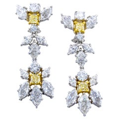 David Rosenberg 10.38 Total Carat Multi Shape Drop Dangle Diamond Earrings