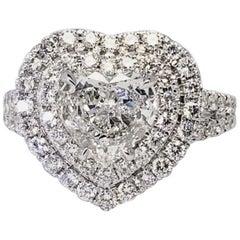 David Rosenberg 1.18 Carat Heart Shape E/VS2 Diamond Engagement Ring