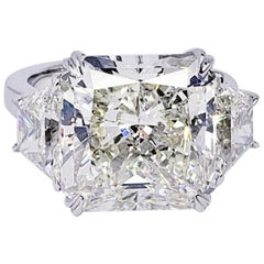 David Rosenberg 12.01 Carat Radiant J/VS2 GIA Diamond Engagement Ring