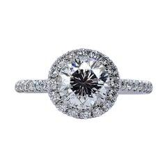 David Rosenberg 1.26 Carat Round Brilliant J/VS1 GIA Diamond Engagement Ring
