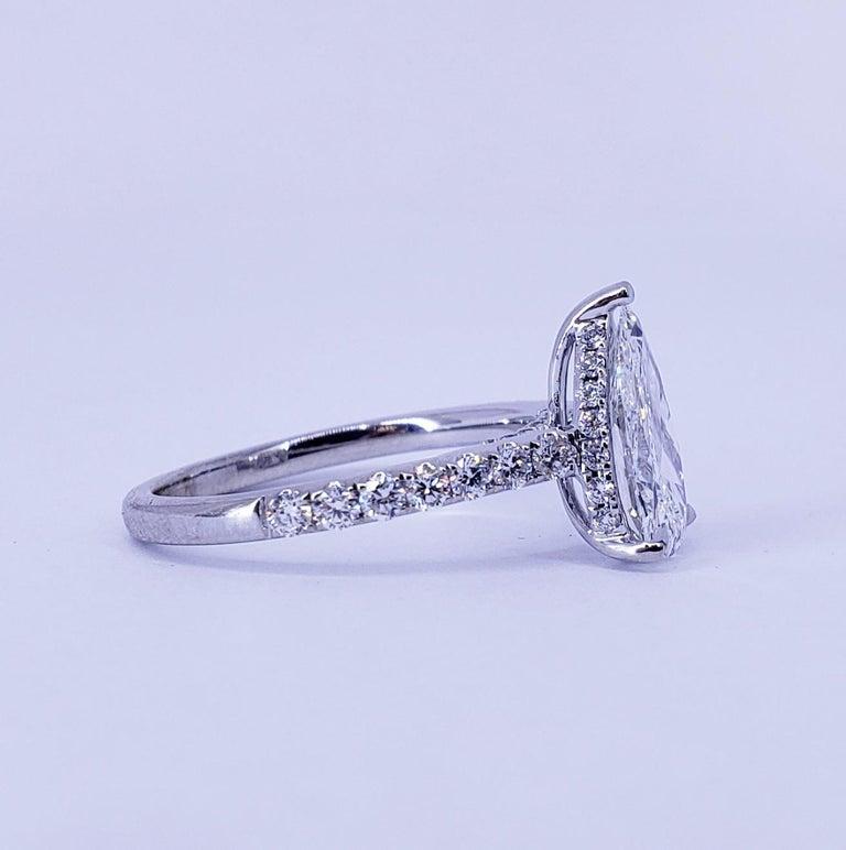 David Rosenberg 1.53 Carat Pear Shape D/VS2 GIA Diamond Engagement Wedding Ring In New Condition For Sale In Boca Raton, FL