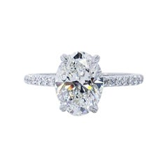 David Rosenberg 2.20 Carat Oval G/VS1 GIA Diamond Engagement Ring