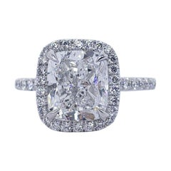 David Rosenberg 3.01 Carat Cushion Cut D/VS2 GIA Diamond Engagement Ring
