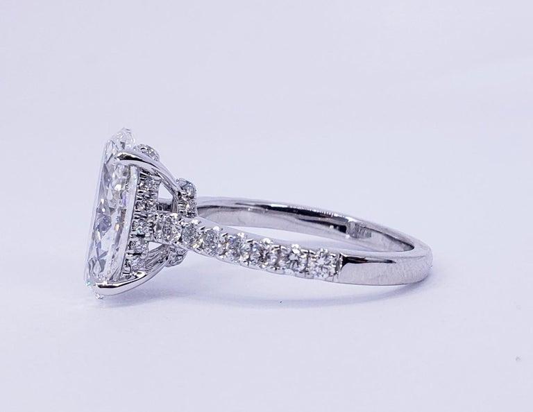 Oval Cut David Rosenberg 3.19 Carat Oval Shape D/SI2 GIA Diamond Engagement Wedding Ring For Sale