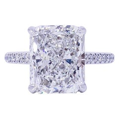 David Rosenberg 5.02 Carat Radiant Cut GIA Diamond Wedding Engagement Ring