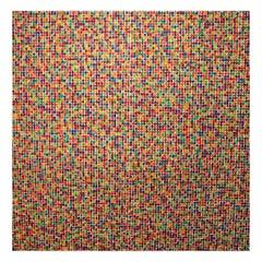 """David Roth """"Random Colors over Random Colors"""" 1977 Screen Print"""