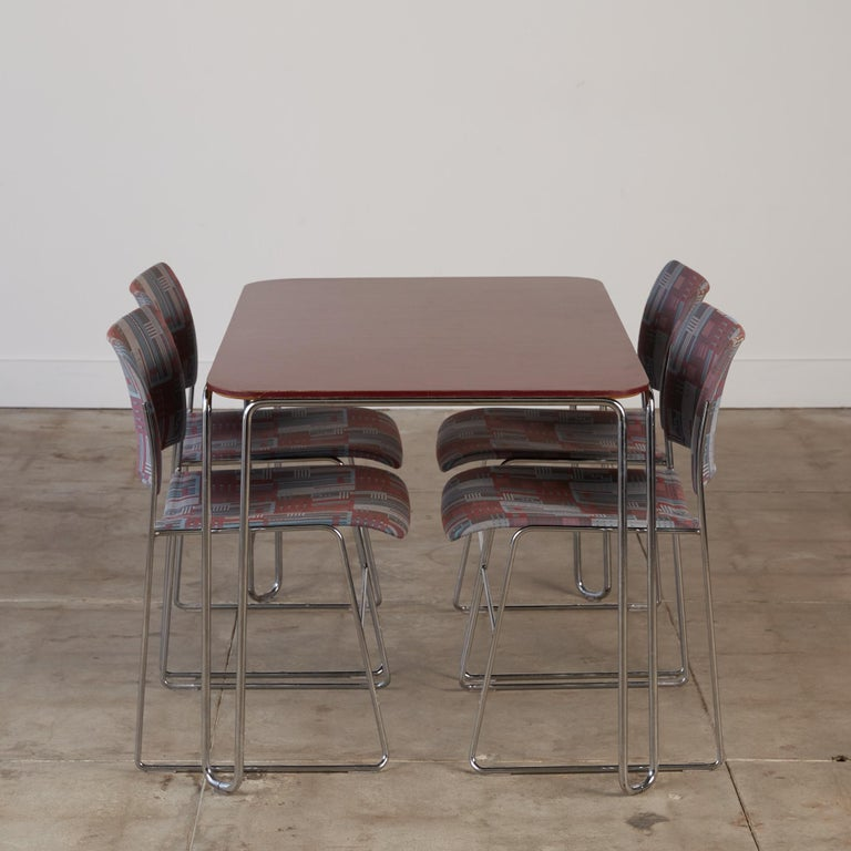 Steel David Rowland Model 710 Table For Sale