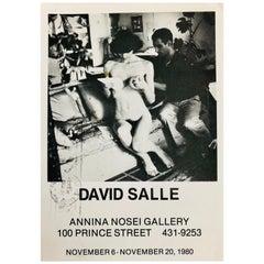 David Salle at Anina Nosei 1980 Announcement