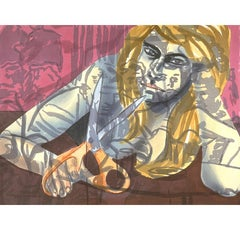 Portrait with Scissors and Nightclub