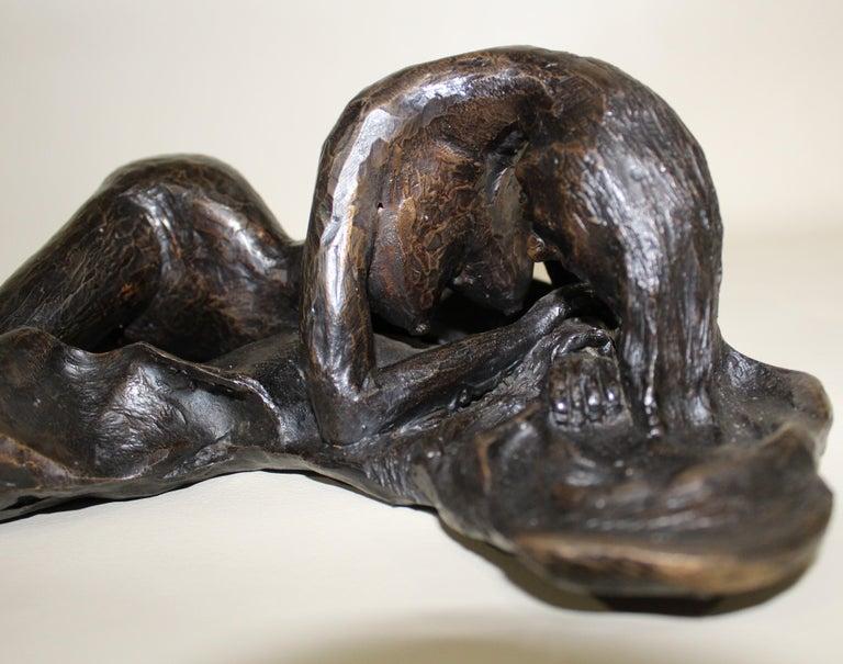 David Segel Nude Woman Modernist Bronze Sculpture For Sale 5