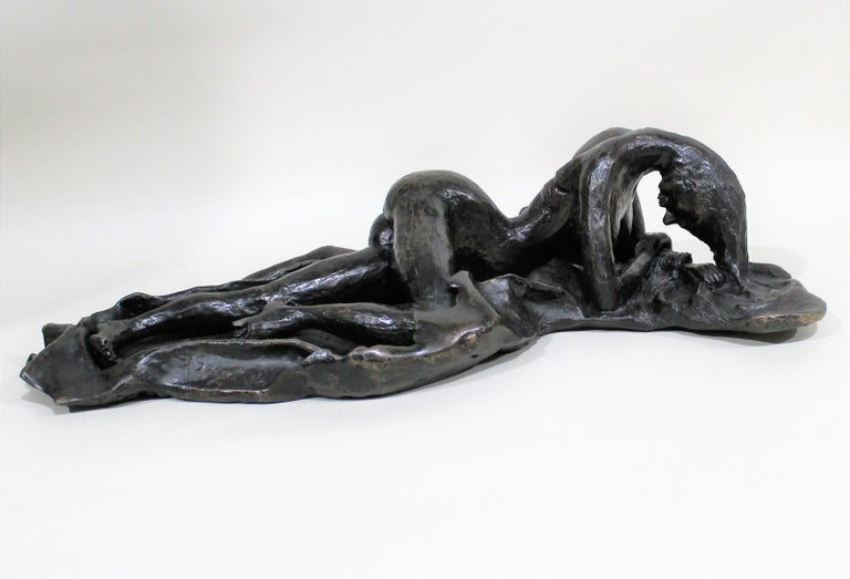 David Segel Nude Woman Modernist Bronze Sculpture For Sale 7