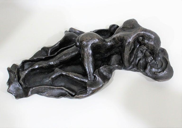 David Segel Nude Woman Modernist Bronze Sculpture For Sale 8
