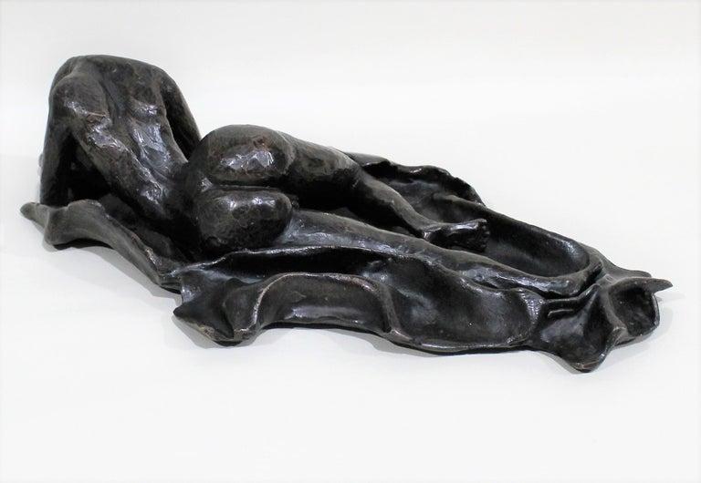 20th Century David Segel Nude Woman Modernist Bronze Sculpture For Sale