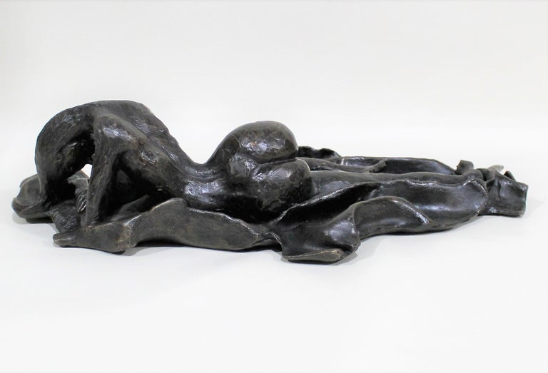 David Segel Nude Woman Modernist Bronze Sculpture For Sale 1