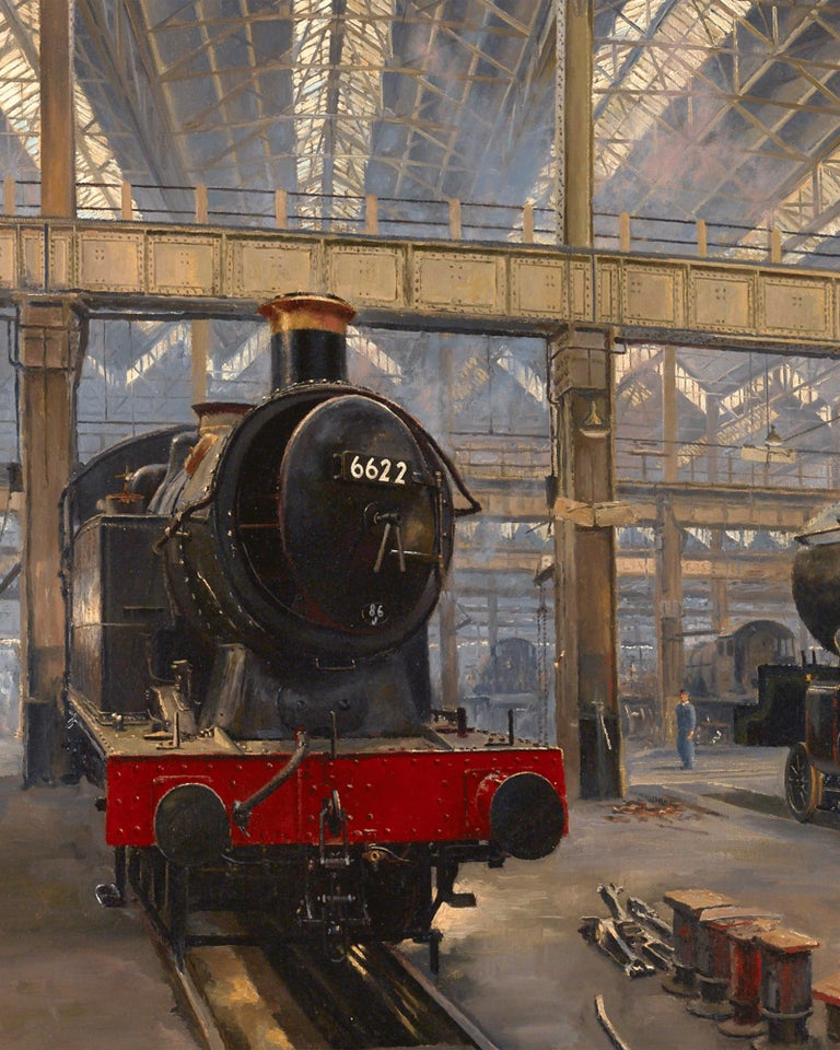 In the Sheds, Swindon - Academic Painting by David Shepherd