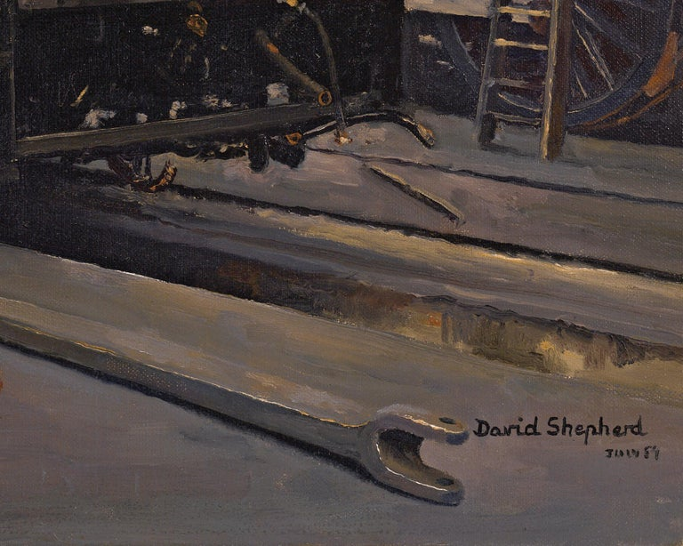 This exceptional oil on canvas was composed by the great British artist David Shepherd. Masterfully composed, it brings together two of the renowned painter's passions - painting and steam locomotives. Shepherd owned a number of locomotives, all of