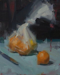 Bag of Oranges - oil on panel