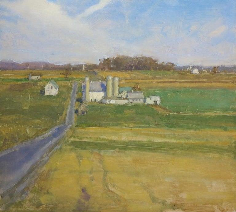 David Shevlino Landscape Painting - Honeybrook, PA Lancaster County