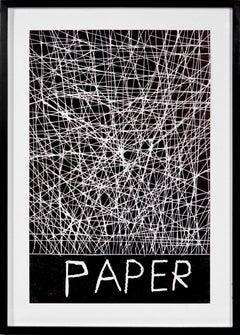 David Shrigley, Paper, Woodcut, 2005