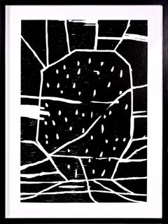 David Shrigley, Structure with Dots, Woodcut, 2005