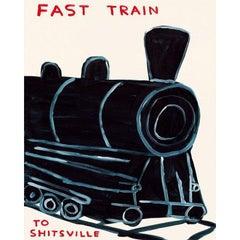 David Shrigley, Untitled (Fast Train to Shitsville), Screenprint, 2020