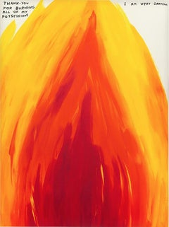David Shrigley, Untitled ( FIRE), Screenprint, 2019