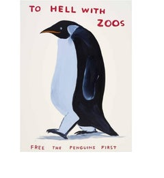 David Shrigley, Untitled (To Hell With Zoos), Screenprint, 2021