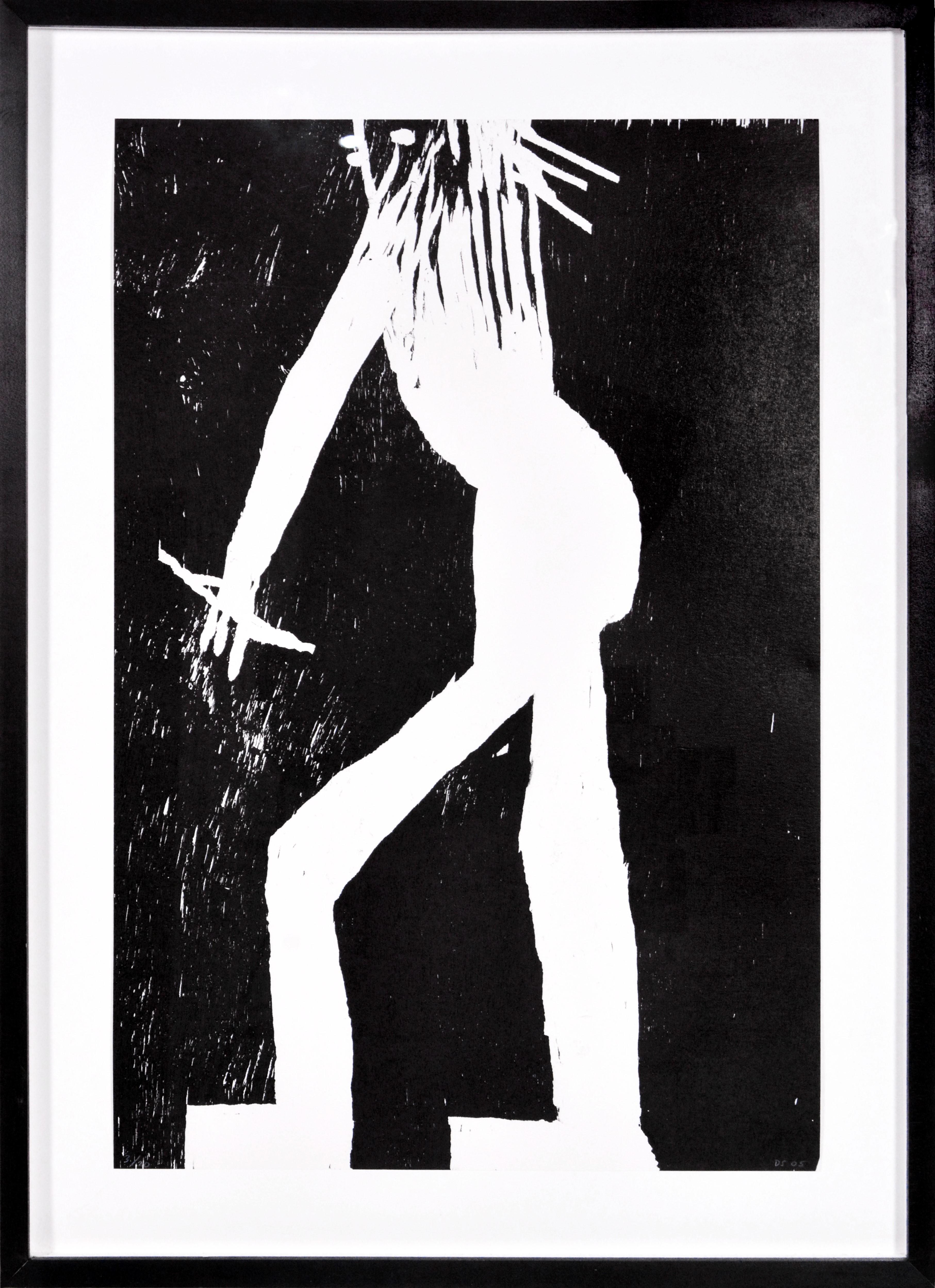 David Shrigley, Man, Woodcut, 2005