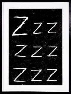 David Shrigley, Zzz..., Woodcut, 2005