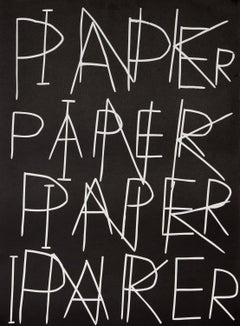 Ink on Paper, Print, Linocut, Text Art, Contemporary by David Shrigley