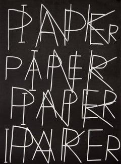 Ink on Paper -- Print, Linocut, Text Art, Contemporary Art by David Shrigley