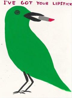 I've Got Your Lipstick -- Print, Animal, Bird, Text Art by David Shrigley