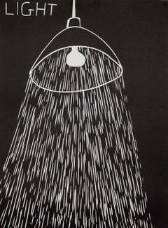 Light -- Print, Linocut, Text Art, Contemporary by David Shrigley