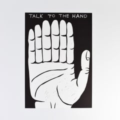 Talk to the Hand (Linocut)