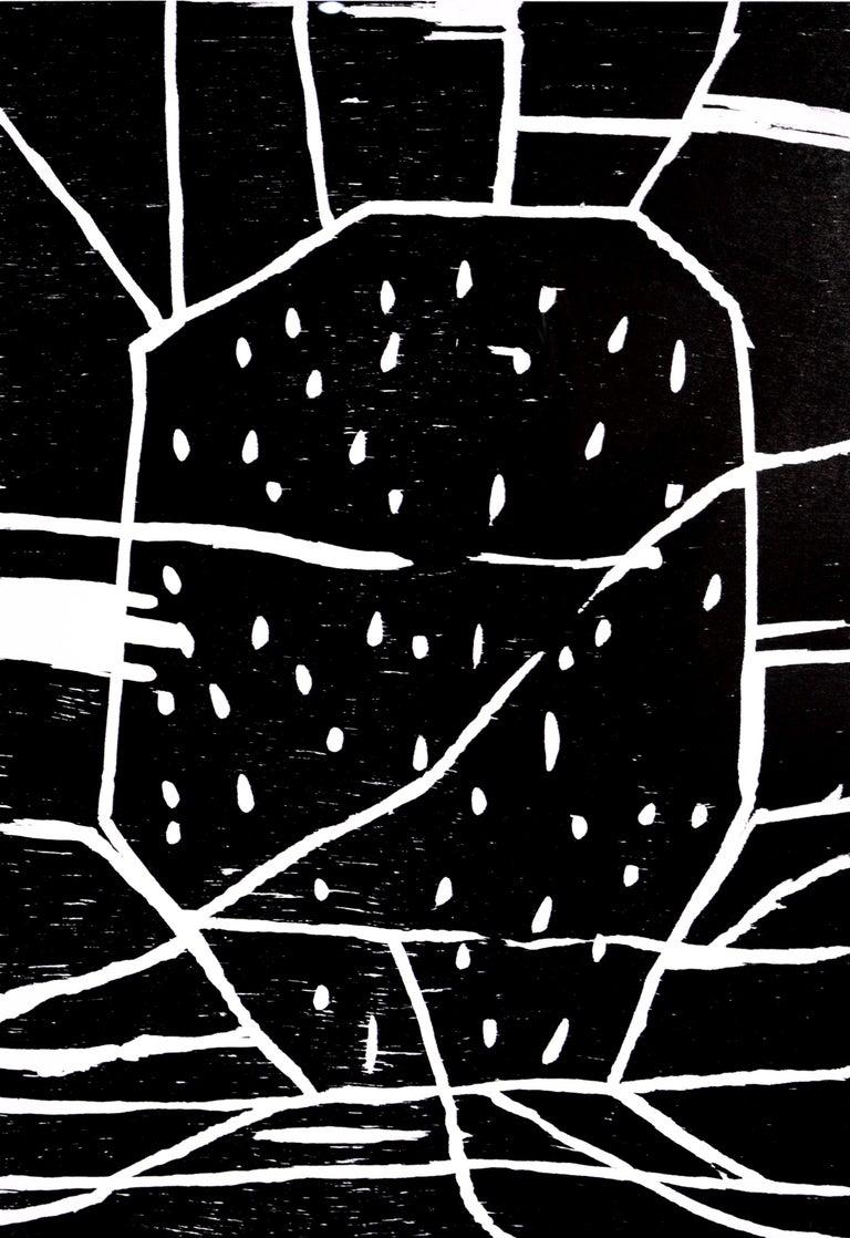 David Shrigley, Structure with Dots, Woodcut, 2005 - Pop Art Print by David Shrigley