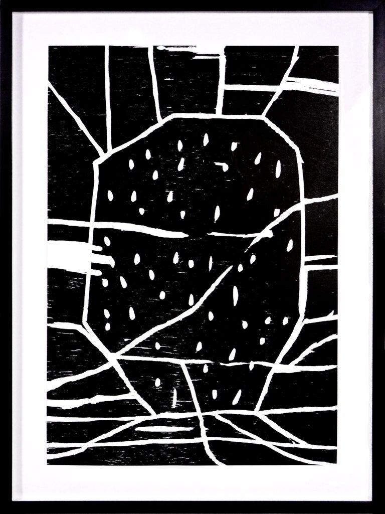 David Shrigley, Structure with Dots, Woodcut, 2005 - Print by David Shrigley