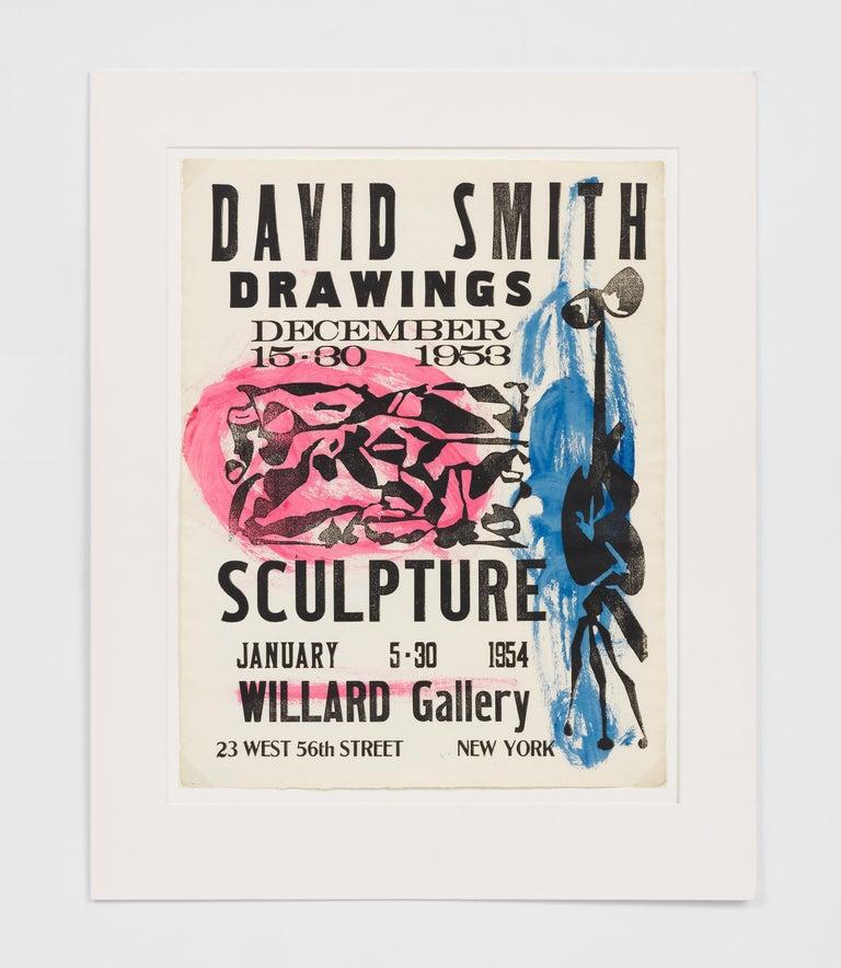Willard Gallery Poster - Print by David Smith