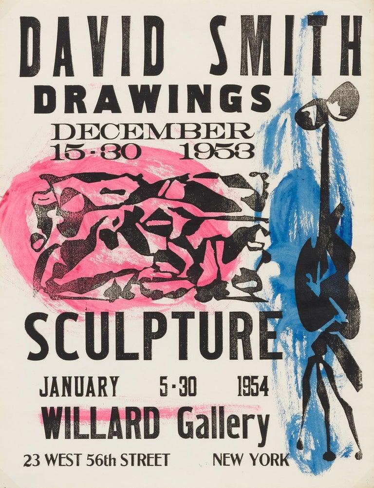 David Smith Print - Willard Gallery Poster