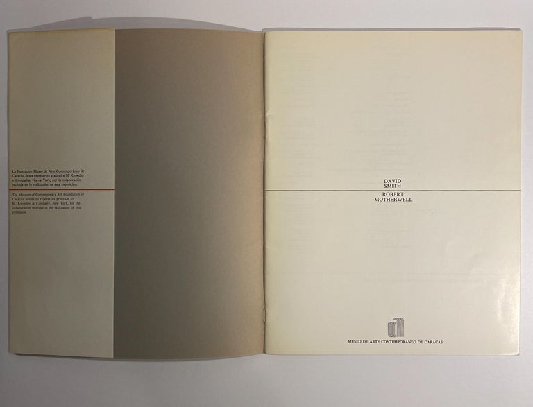 Modern David Smith, Robert Motherwell Catalog with Installation Photographs For Sale